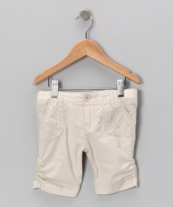 Khaki Poplin Bermuda Shorts - Toddler & Girls