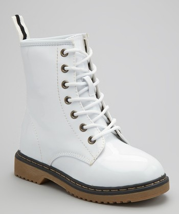 White Alyson Hi-Top Boot
