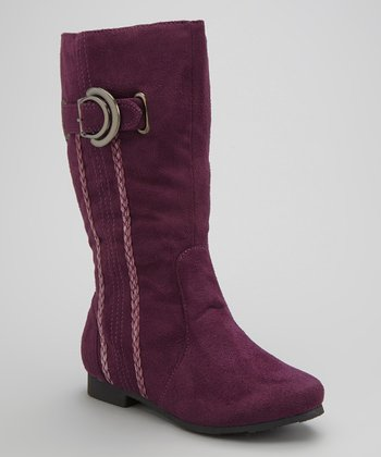 Purple Camila Buckle Boot