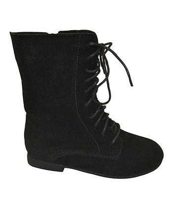 Black Nessa Lace-Up Boot