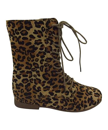 Leopard Nessa Lace-Up Boot