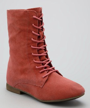 Coral Nessa Lace-Up Boot
