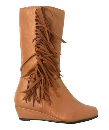 Tan Chloe Fringe Boot