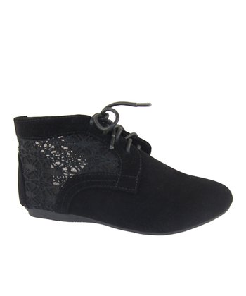 Black Lace Naomi Ankle Boot