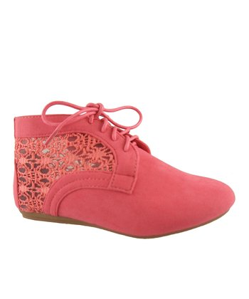 Coral Lace Naomi Ankle Boot