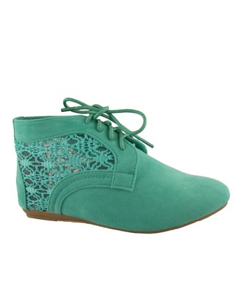 Mint Lace Naomi Ankle Boot