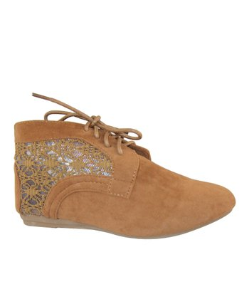 Tan Lace Naomi Ankle Boot