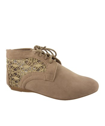 Taupe Lace Naomi Ankle Boot