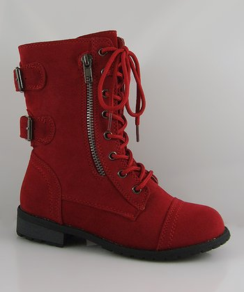 Red Mango Zipper Boot