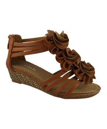 Tan Jojo Flower Sandal