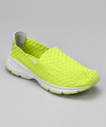 Lime Tour Woven Slip-On Shoe