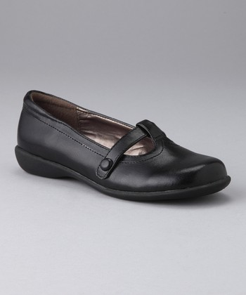 Black Amy T-Strap Shoe
