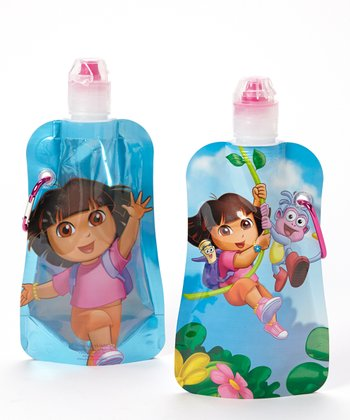 Dora Swinging 12-Oz. Foldable Bottle - Set of Two