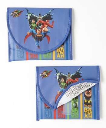 Justice League Sandwich Bag - Set of Two