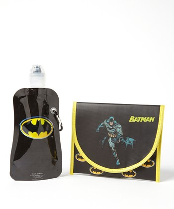 Batman 12-Oz. Foldable Bottle & Sandwich Bag