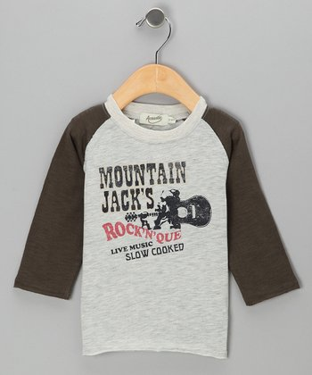 Gray & Olive Jeffery Raglan Tee - Toddler