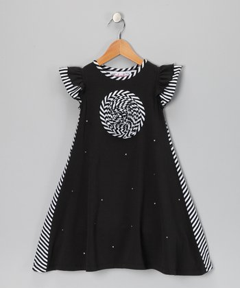 Black Lauren Dress - Girls