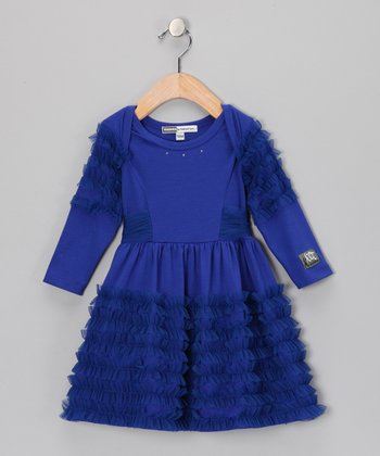Sapphire Anemone Dress - Infant & Toddler