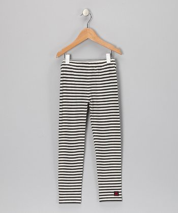 Charcoal & Milk Leggings - Toddler & Girls