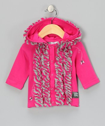 Raspberry Ruffle Primrose Jacket - Infant & Toddler