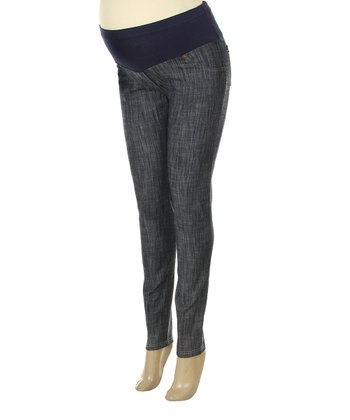 Denim Mid-Belly Maternity Skinny Jeans - Plus