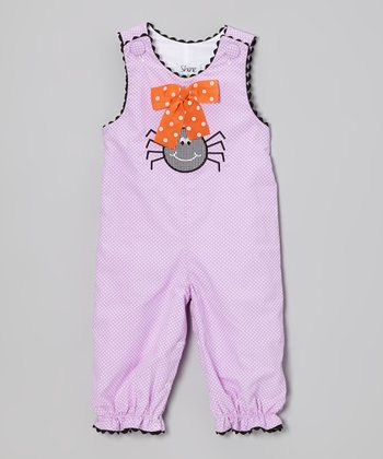 Purple Polka Dot Spider Playsuit - Infant & Toddler