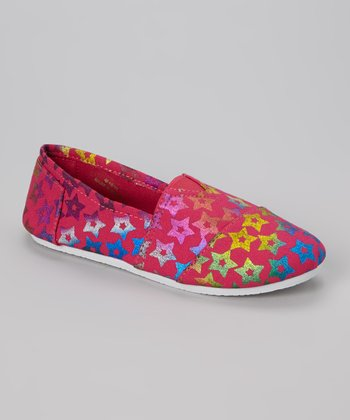Fuchsia Star Slip-On Shoe