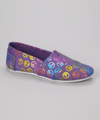 Purple Peace Slip-On Shoe