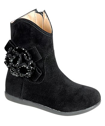 Black Kiki Flower Boot