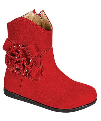 Red Kiki Flower Boot