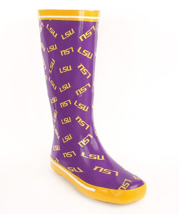 Purple Louisiana State University Rain Boot - Women