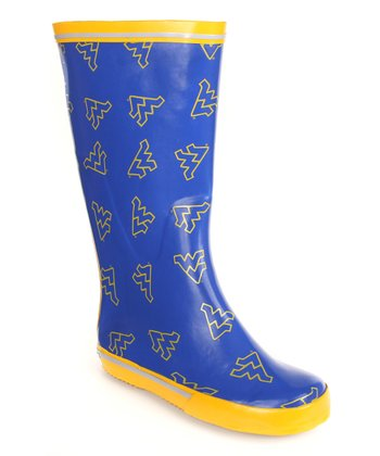 Blue & Gold West Virginia Rain Boot - Women