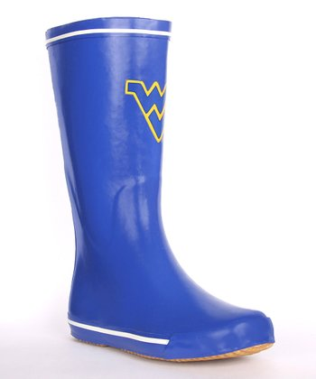 Blue West Virginia Logo Rain Boot - Women