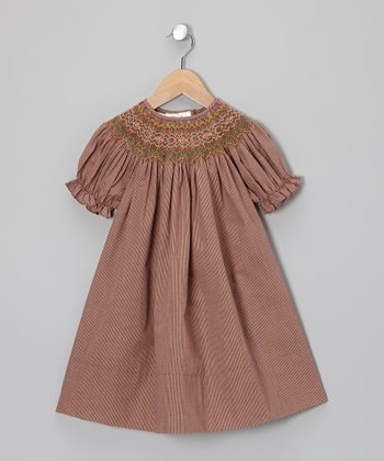 Brown Bishop Dress - Toddler & Girls