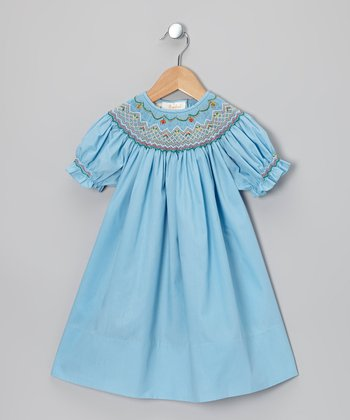 Light Blue Bishop Dress - Toddler & Girls