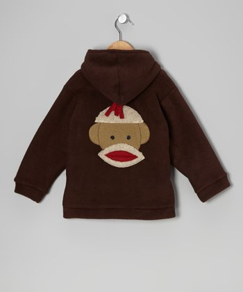Brown Monkey Fleece Zip-Up Hoodie - Infant, Toddler & Kids