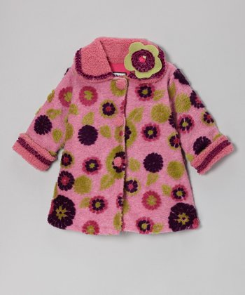 Berry & Purple Mum Sweet Pea Coat - Infant, Toddler & Girls