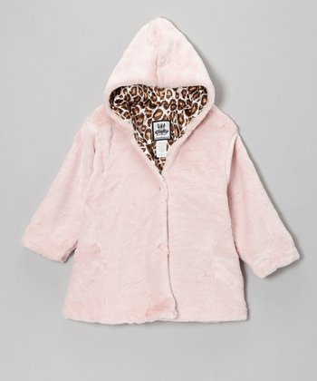 Pink Softy Hooded Swing Coat - Infant
