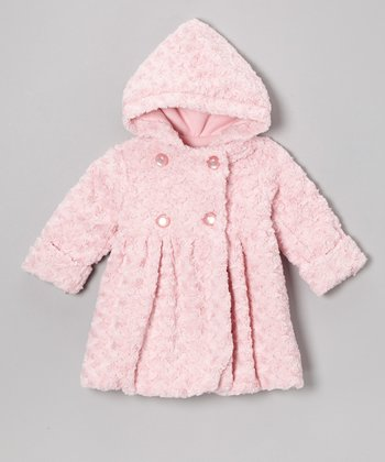 Pink Twist Faux Fur Bubble Coat - Toddler & Girls