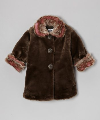 Coco Faux Fur Sweet Pea Coat - Toddler & Girls