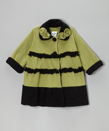 Olive Fleece Sweet Pea Princess Coat - Infant, Toddler & Girls