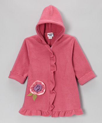 Watermelon Ruffle Fleece Swing Coat - Infant& Toddler