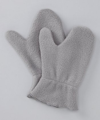 Gray Fleece Mittens
