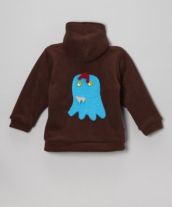 Brown Monster Fleece Zip-Up Hoodie - Infant, Toddler & Boys