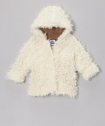 Cream Cuddle Bear Hooded Swing Coat - Infant & Toddler