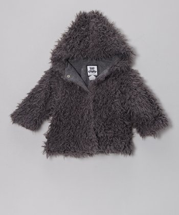 Gray Cuddle Bear Hooded Swing Coat - Infant, Toddler & Girls