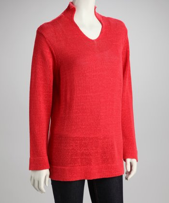 Rouge Mock Neck Knit Tunic