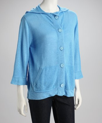 Ocean Button-Up Hoodie