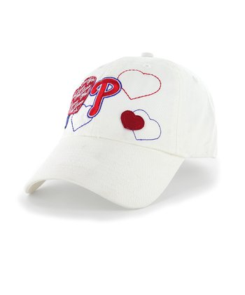 White Phillies Amore Clean Up Baseball Cap - Kids