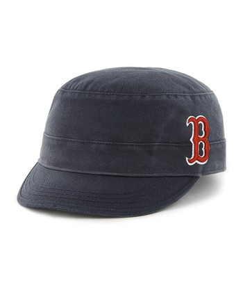 Navy Red Sox Crystal Fidel Cadet Cap - Women
